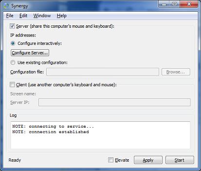Synergy PC (Server) Config
