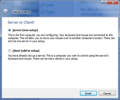 Synergy PC Server Setup